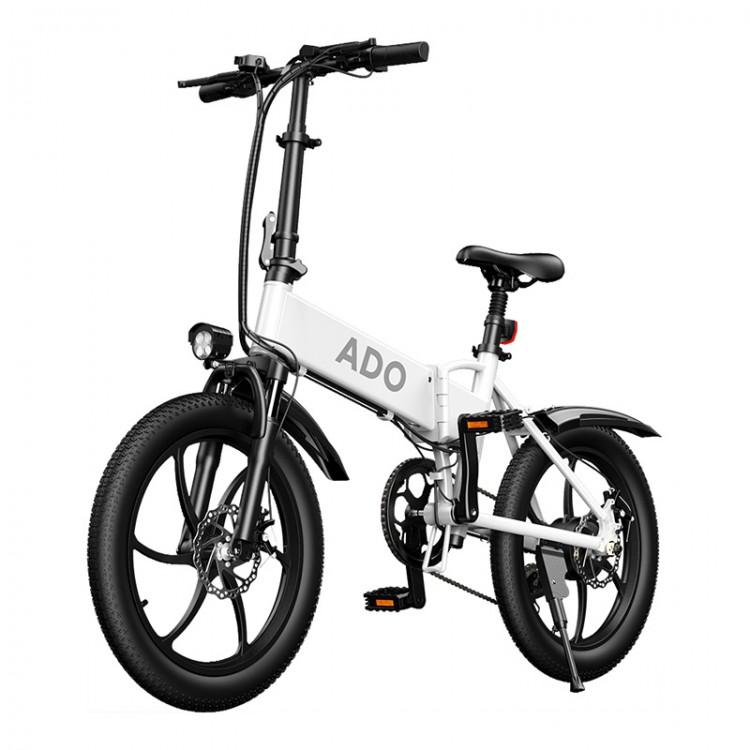 ADO A20 elektrinis dviratis 350W sulankstomas baltas