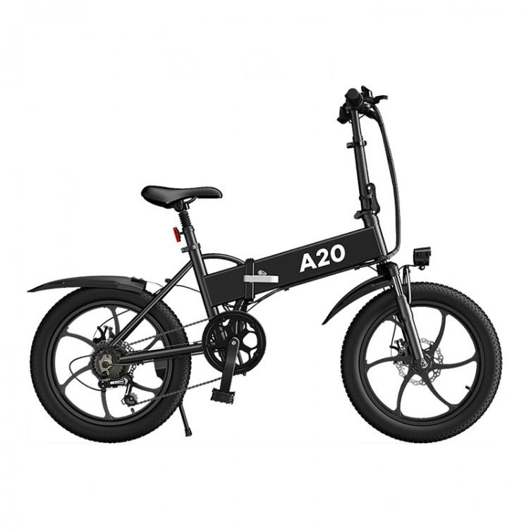 ADO A20 elektrinis dviratis 350W sulankstomas juodas