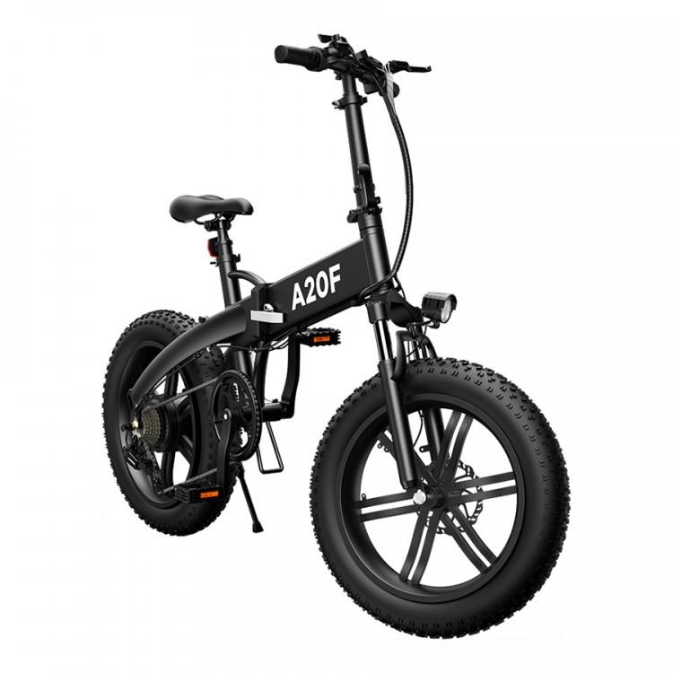 ADO A20F elektrinis dviratis Fat bike 500W sulankstomas juodas