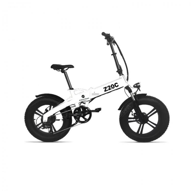 Elektrinis sulankstomas dviratis ADO Z20C Fat bike baltas