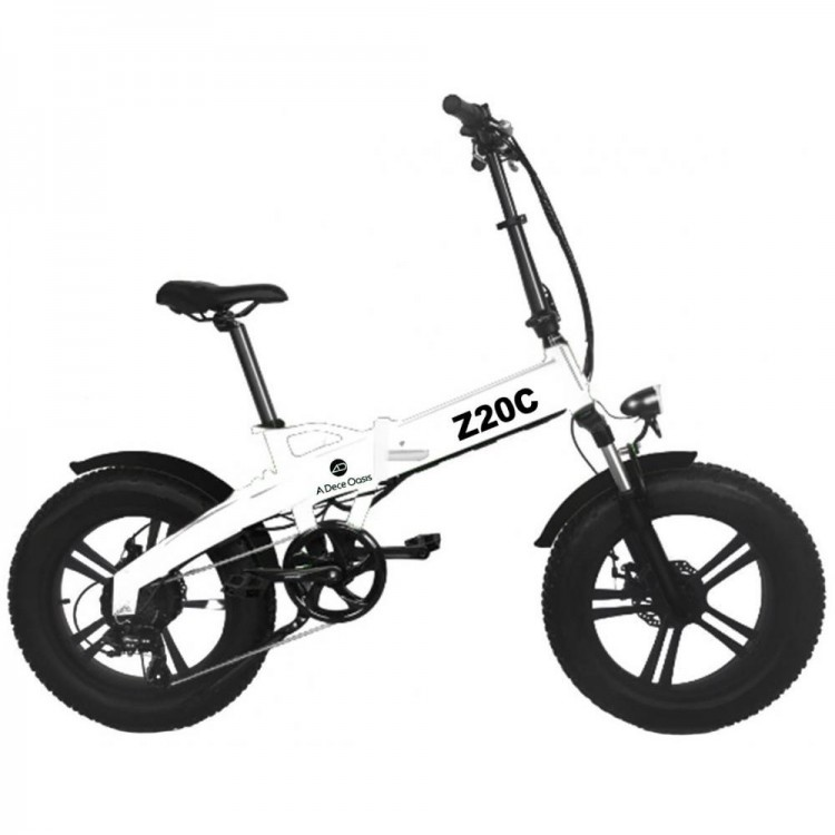 ADO Z20C elektrinis dviratis Fat bike 350W sulankstomas baltas