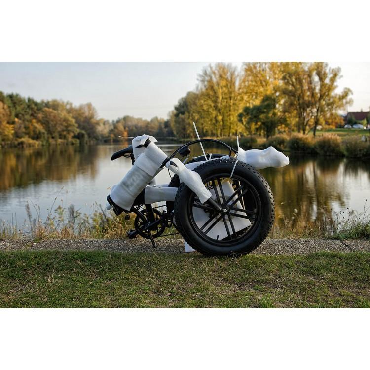Elektrinis sulankstomas dviratis ADO Z20C Fat bike juodas