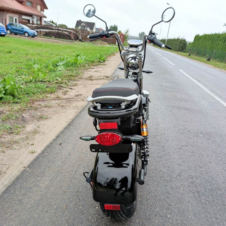 Citycoco elektrinis motoroleris CP-2 40Ah (dvi baterijos) Juoda sp.
