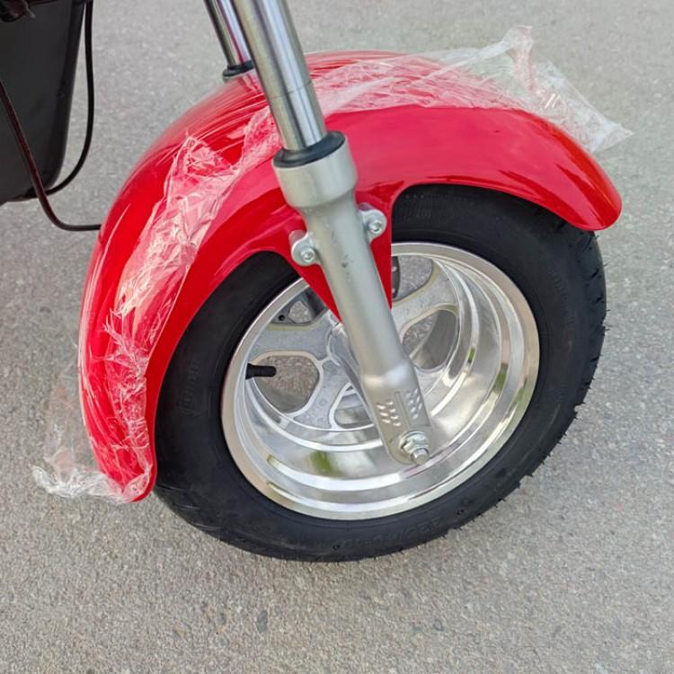 Citycoco elektrinis motoroleris CP-2 40Ah (dvi baterijos) raudona sp.