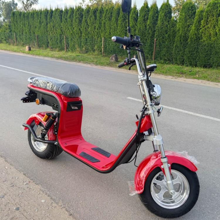 Citycoco elektrinis motoroleris CP-2 20Ah raudona sp.