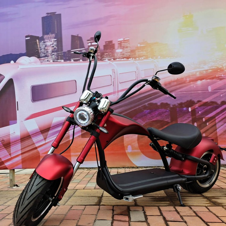 Elektrinis motoroleris Citycoco M1P 2000W 20Ah bordo sp.