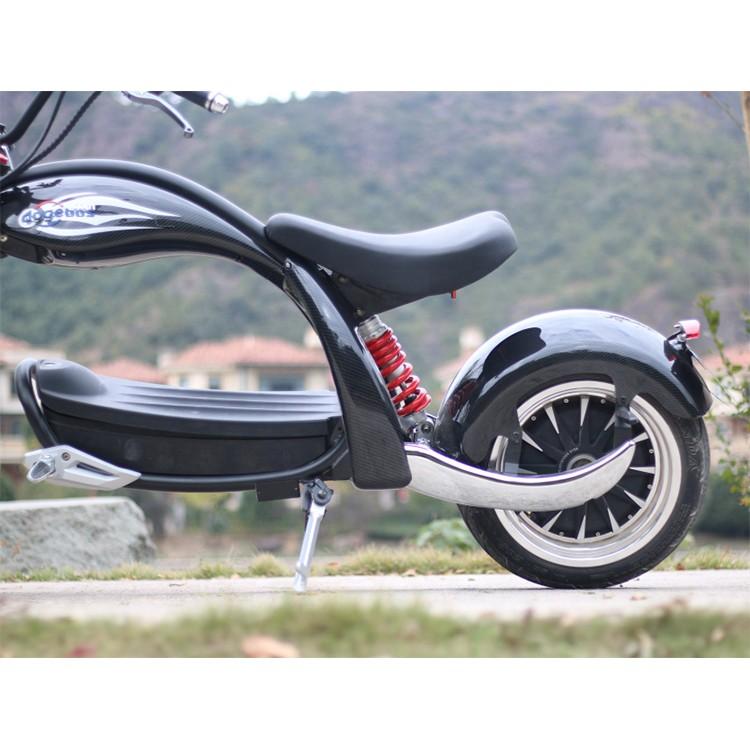 Elektrinis motoroleris Citycoco M4 2000W 28Ah juoda sp.