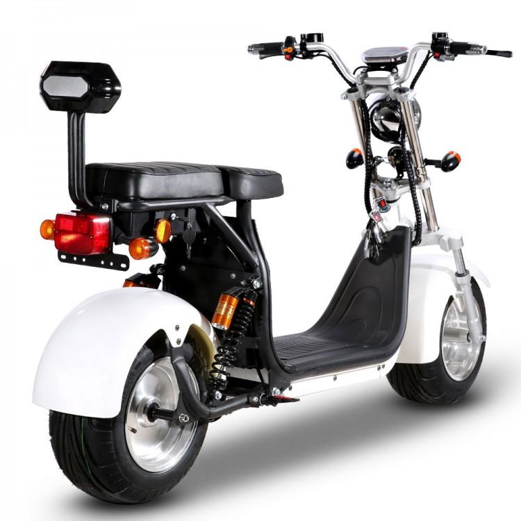Citycoco elektrinis motoroleris ER-1.6 40Ah (dvi baterijos) Juoda sp.