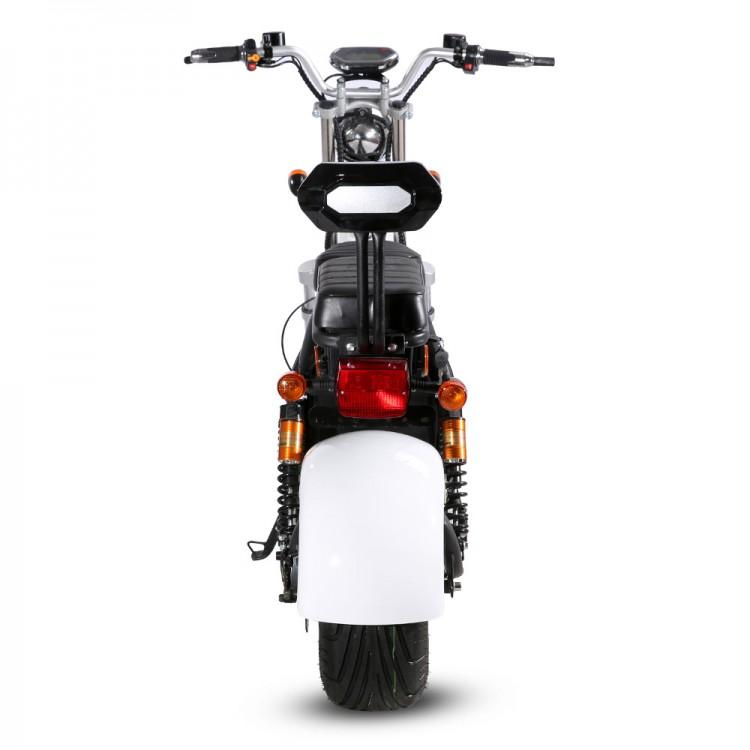 Citycoco elektrinis motoroleris ER-1.6 20Ah (viena baterija) Juoda sp.