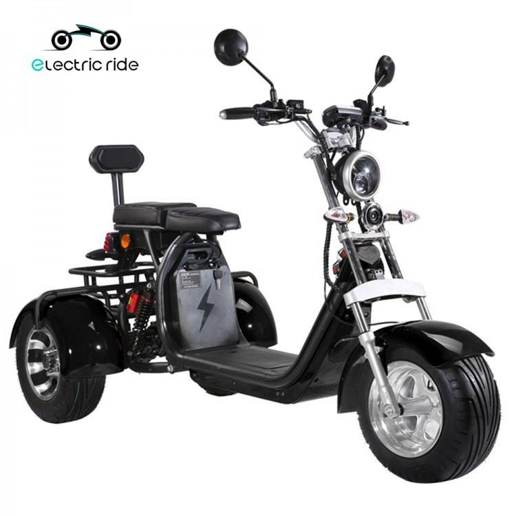 Citycoco elektrinis triratis ER-3.0 20Ah (viena baterija) Juoda sp.