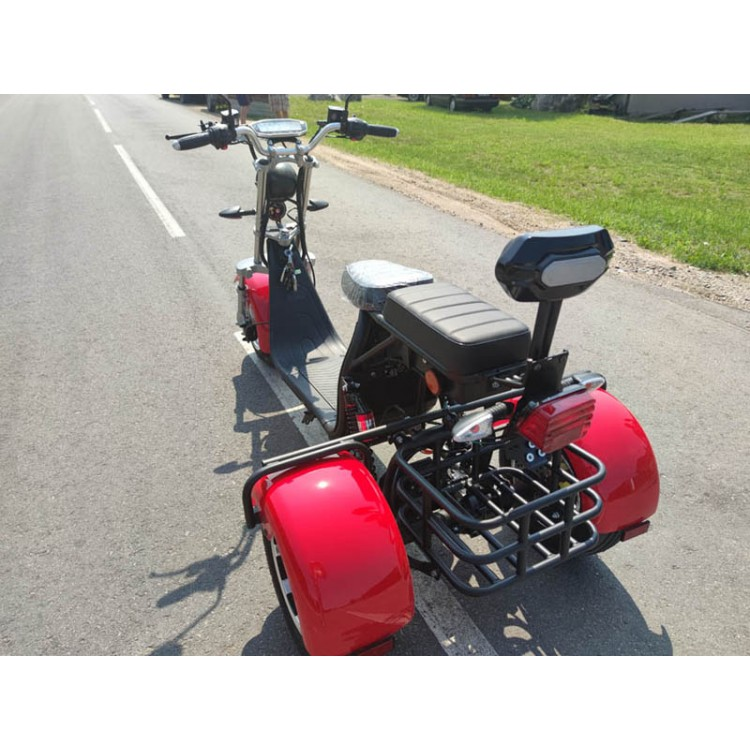 Citycoco elektrinis triratis ER-3.0 20Ah (viena baterija) raudona sp.