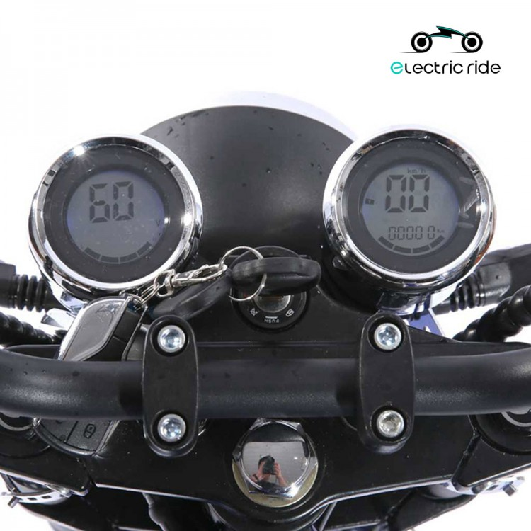Citycoco elektrinis motoroleris ER-4 20Ah Matinė juoda sp.