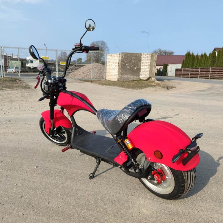 Citycoco elektrinis motoroleris ER-4 20Ah Matinė raudona sp.