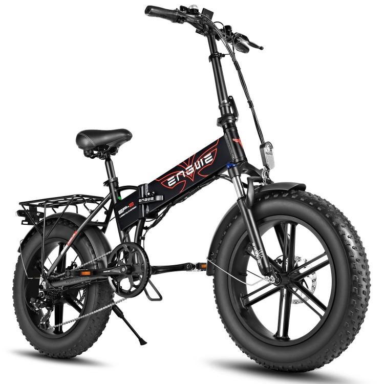 ENGWE EP-2 PRO 750W elektrinis dviratis Fat bike sulankstomas juodas