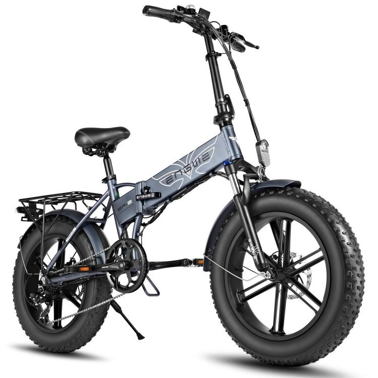 ENGWE EP-2 PRO 750W elektrinis dviratis Fat bike sulankstomas pilkas
