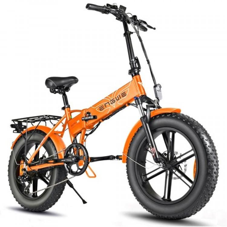 ENGWE EP-2 PRO 750W elektrinis dviratis Fat bike sulankstomas oranžinis